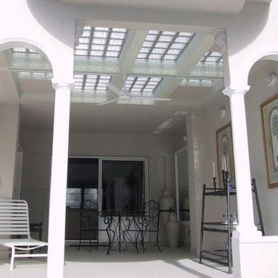 Bloques de vidrio para techo