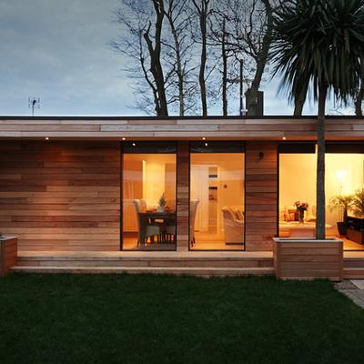 Cabaña de madera entramado