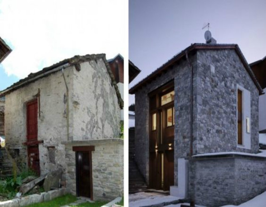 Antes y después de una restauración. Imagen cortesía de pinimg.com.