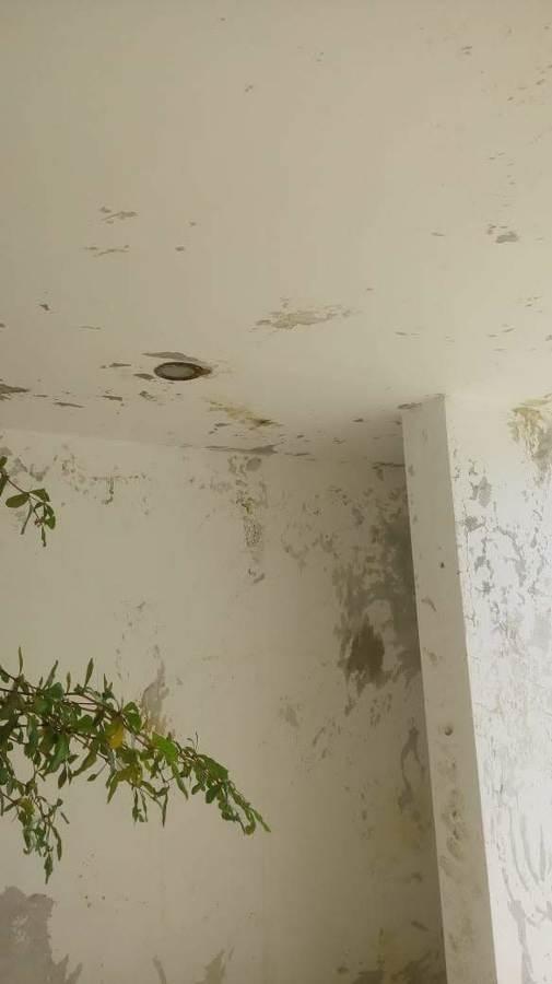 Arreglar humedad de un techo de material