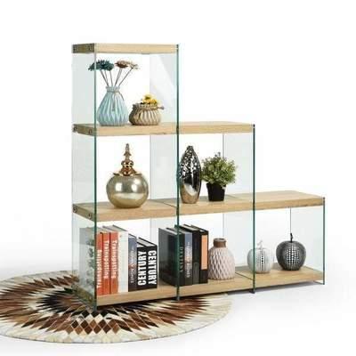 Librero de vidrio