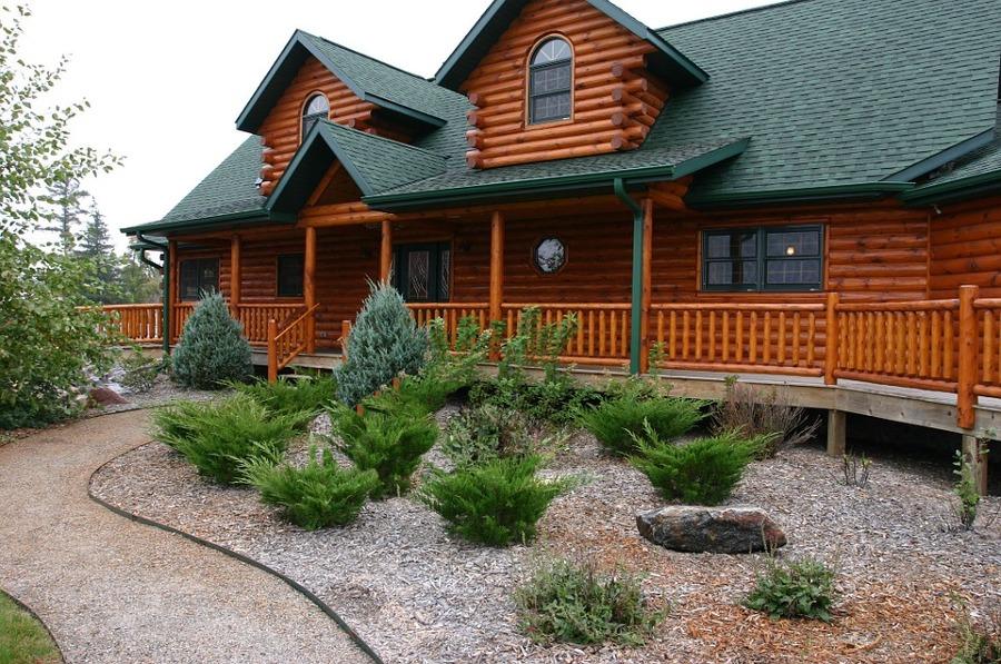 Casa de madera de obra