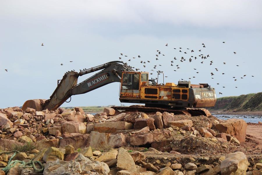 Extracción en terrenos rocosos