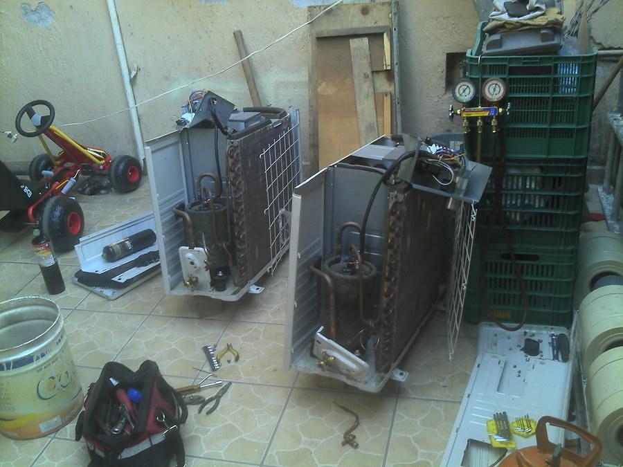 Mantenimiento compresor aire acondicionado