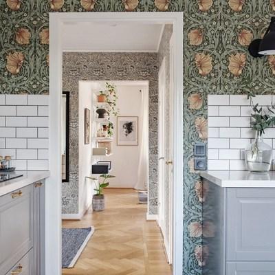Poner papel pintado en cocina