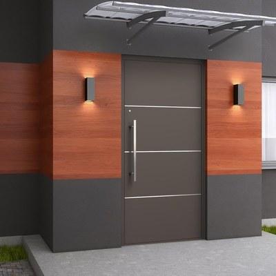 Puerta de aluminio para exterior