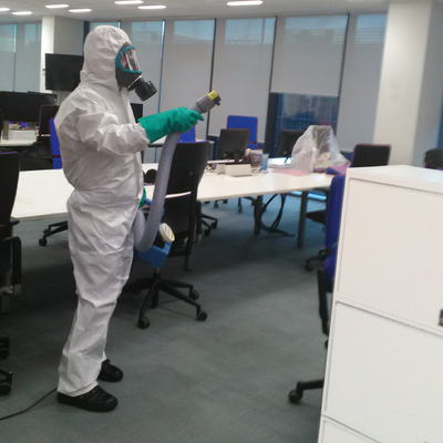 Sanitizar oficinas
