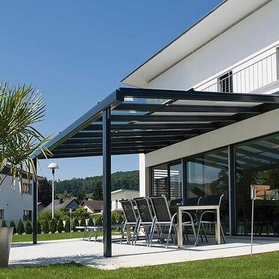 Terrazas con estructura metálica