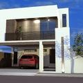 Casa con terraza al frente en planta alta