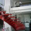 escaleras con barandal en cristal templado
