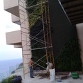 Jardín vertical en una terraza en acapulco