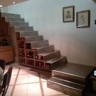 Escalera de placa metalica