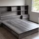 base de cama con librero