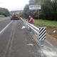 Colocación de protección en carretera