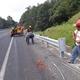 Colocación de protección vial, carretera