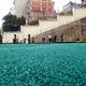 Sistema prefabricado acabo gravilla color verde ecológico