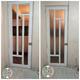 Instalación de puerta de herrería con vidrio
