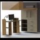 Modelo 3D Cama elevada con escritorio y closet