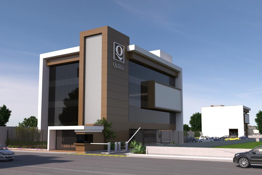 Foto edificio corporativo de constructora gaia s a de c for Edificios minimalistas