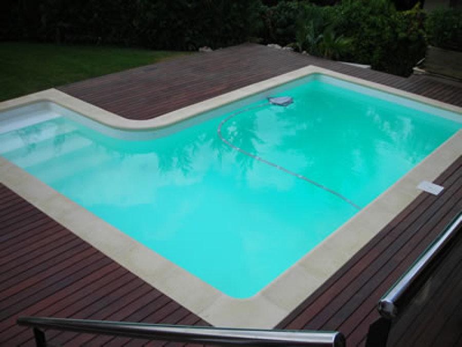 Foto alberca con acabado diamond brite de piscinas m rida for Construccion de piscinas merida