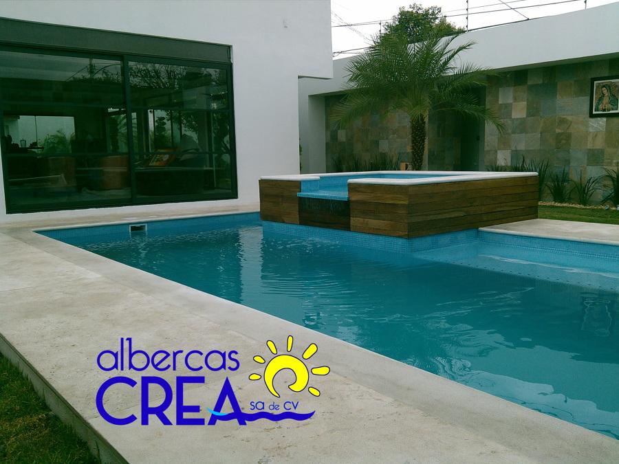 Foto alberca residencial cdmx de albercas crea 166432 for Alberca residencial