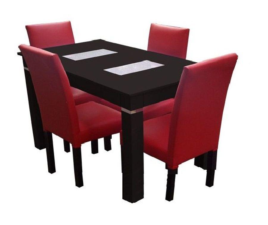 Foto ante comedor 4 sillas tapizadas de cocinas y closets for Sillas tapizadas comedor