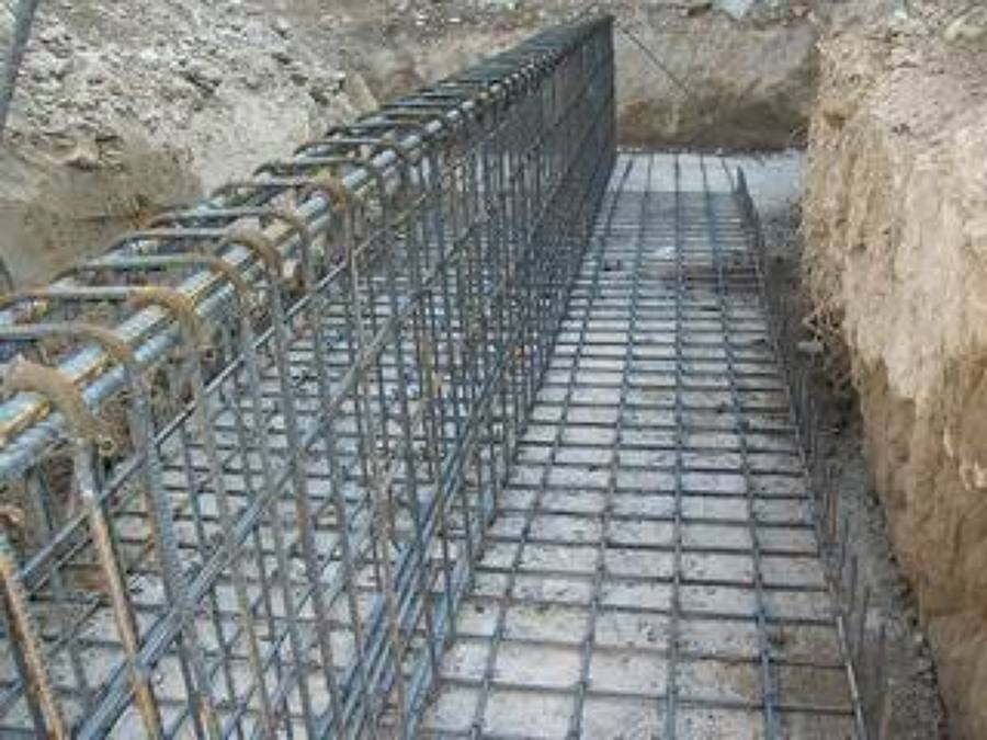 Foto armado de cimentaci n de concreto armado de for Muro de concreto armado