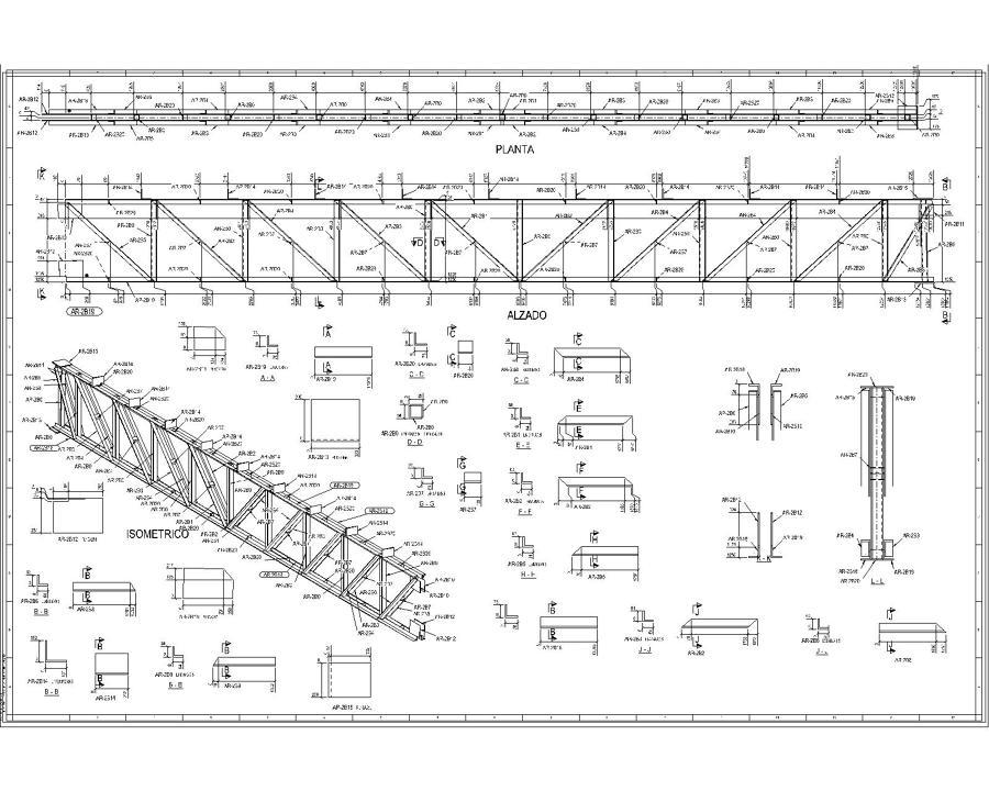Foto planos estructuras metalicas de arquitectura de for Planos de estructuras