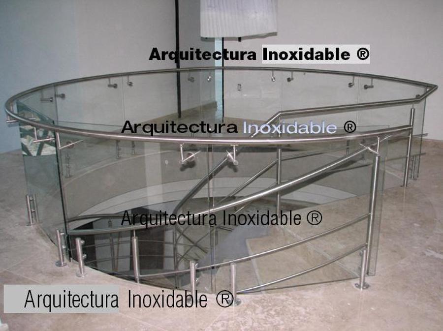 Puertas Para Baño En Acero Inoxidable:Curvo Acero Inoxidable y Cristal Templado de Arquitectura Inoxidable