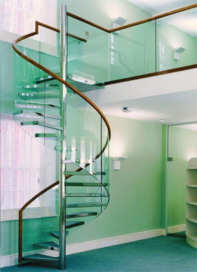 Foto barandal curvo de vitroteck jaty 66575 habitissimo - Barandales modernos para escaleras ...