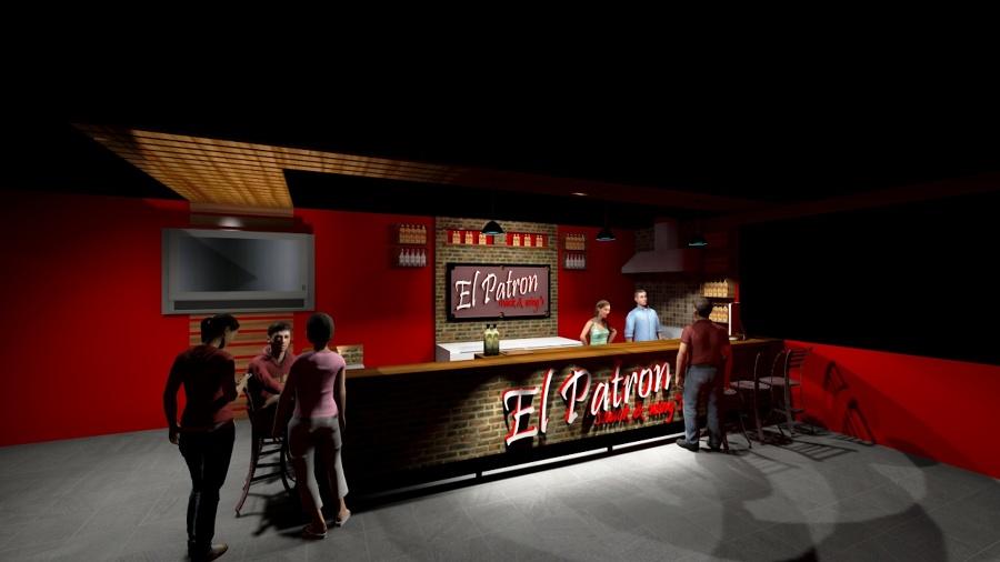 Foto barra billar bar el patron de romoarq7 arquitectura for Barra de bar exterior