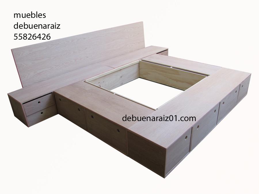 Foto base para cama king size 7 pesos de taller for Base para cama queen size minimalista