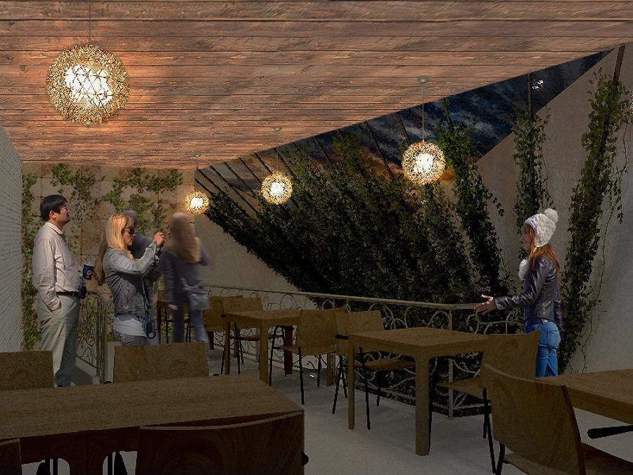 Planta alta (tapanco) de cafetería en Boca del Río