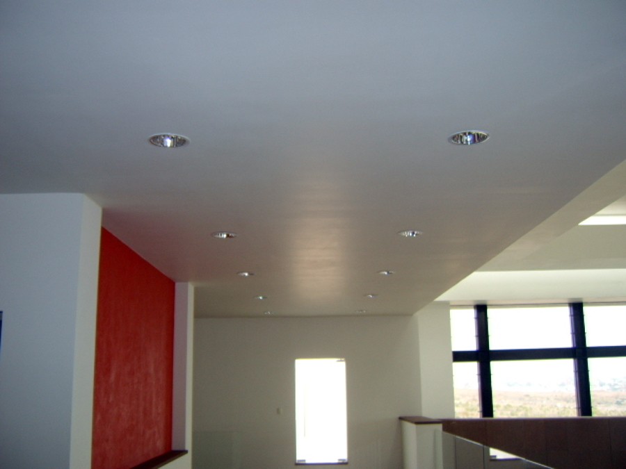 Foto canacintra tablaroca plafones y muros durock for Plafones de madera para pared