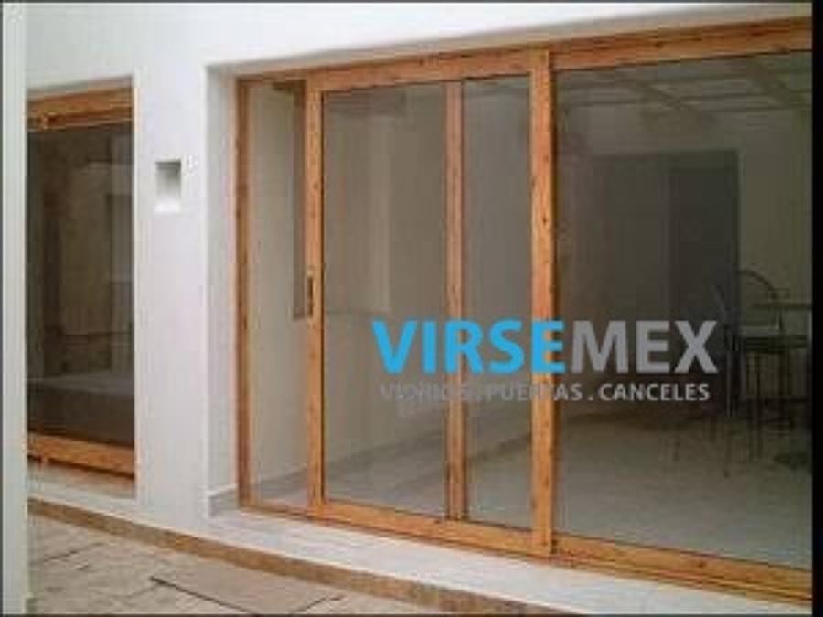 Foto cancel virsemex de virsemex 208103 habitissimo for Ventanas de aluminio con marco de madera