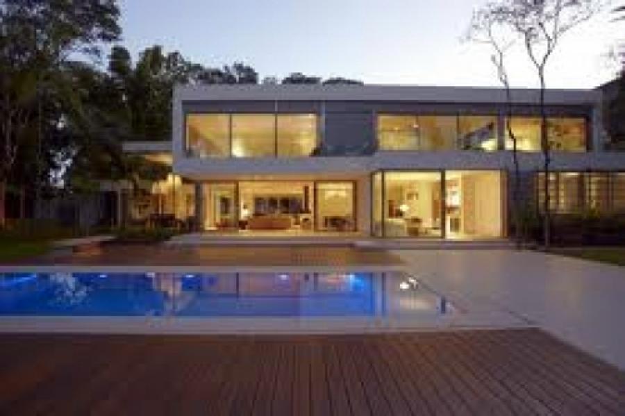 Foto casa y alberca cuernavaca de cassa inmobiliaria for Casa minimalista con alberca
