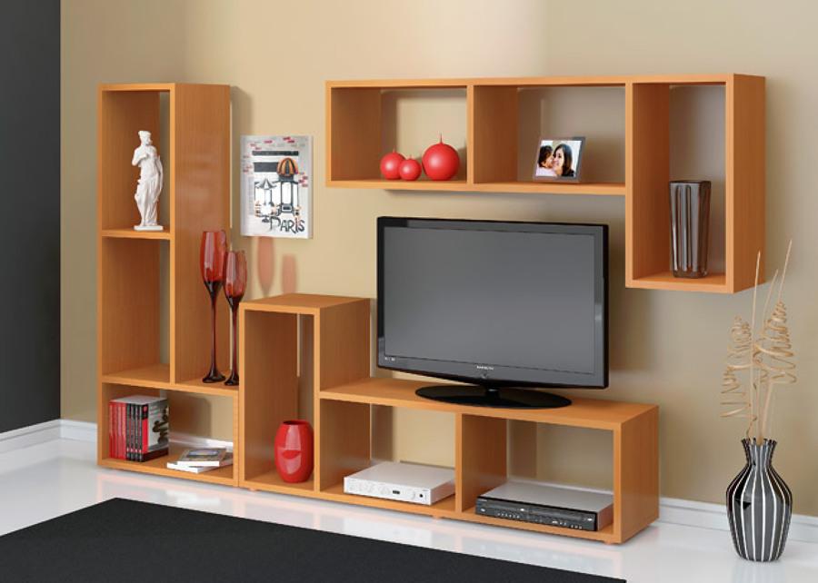 Centro de entretenimiento para tv minimalista madera for Muebles minimalistas