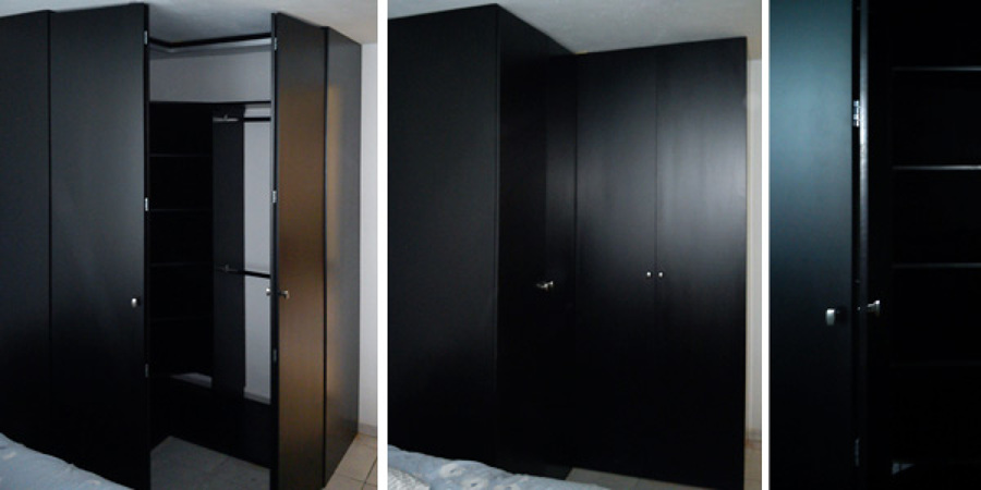 Foto closet para esquina de muebles m 9959 habitissimo for Closet de madera modernos pequenos