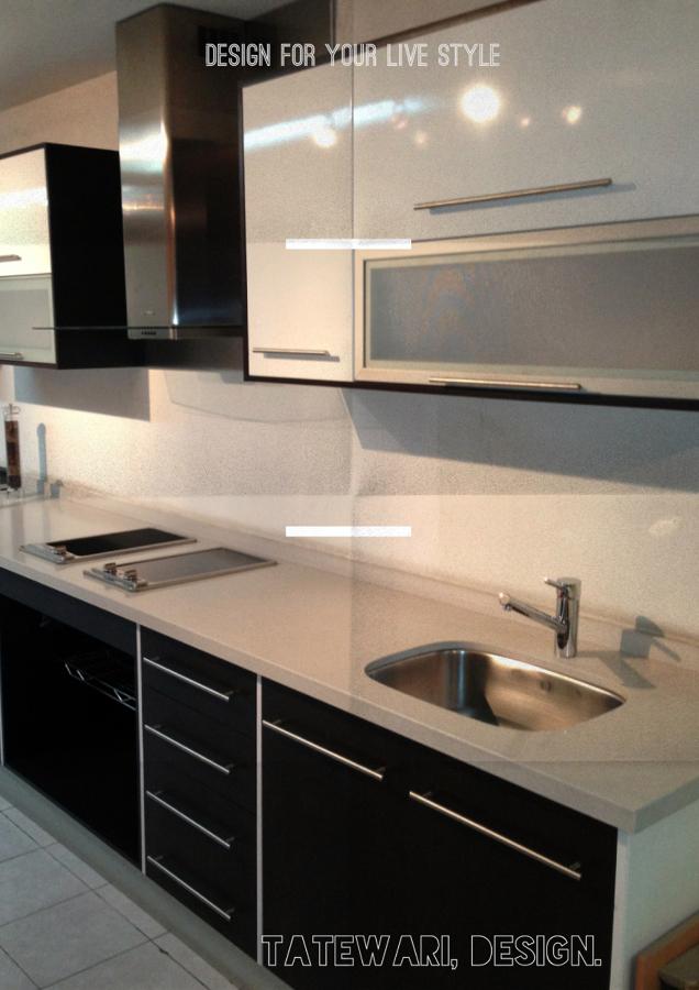 Foto cocina blanco y negro de tatewari 12532 habitissimo for Quiero ver cocinas integrales