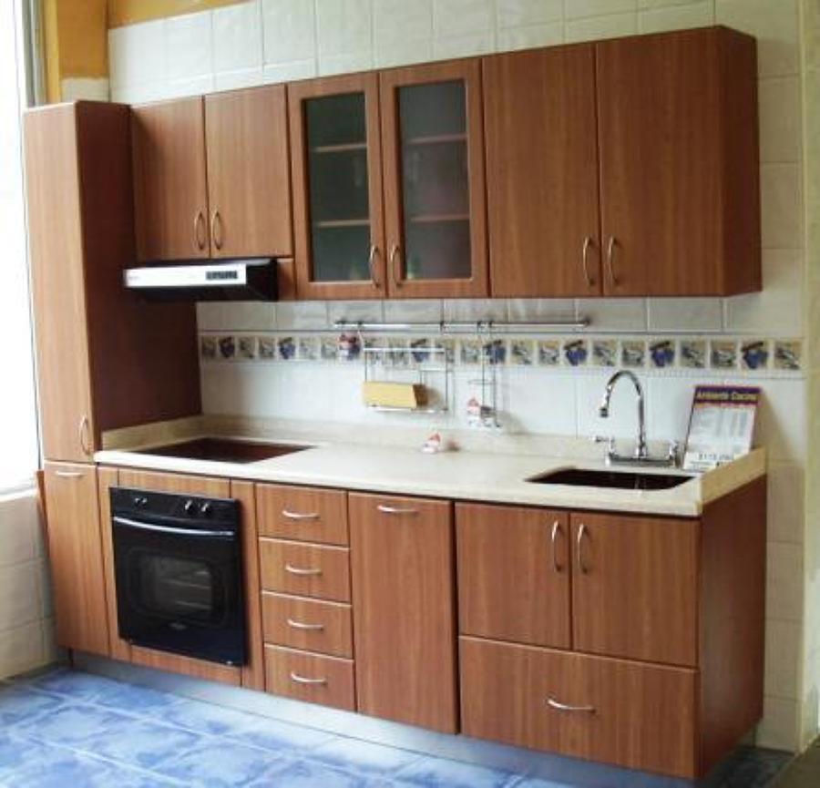 Foto cocina melamina de cocinas y closets del valle for Cocinas integrales de concreto pequenas