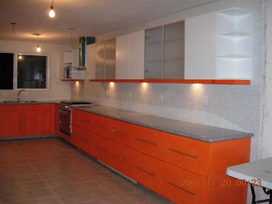 Foto cocina naranja blanco alto brillo de cocinas y - Cocinas naranjas y blancas ...