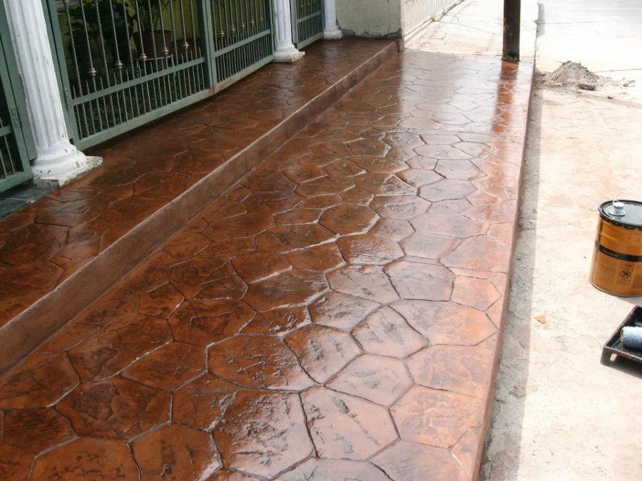 Foto concretos estampados mu oz de concretos estampados for Pisos para cocheras y patios