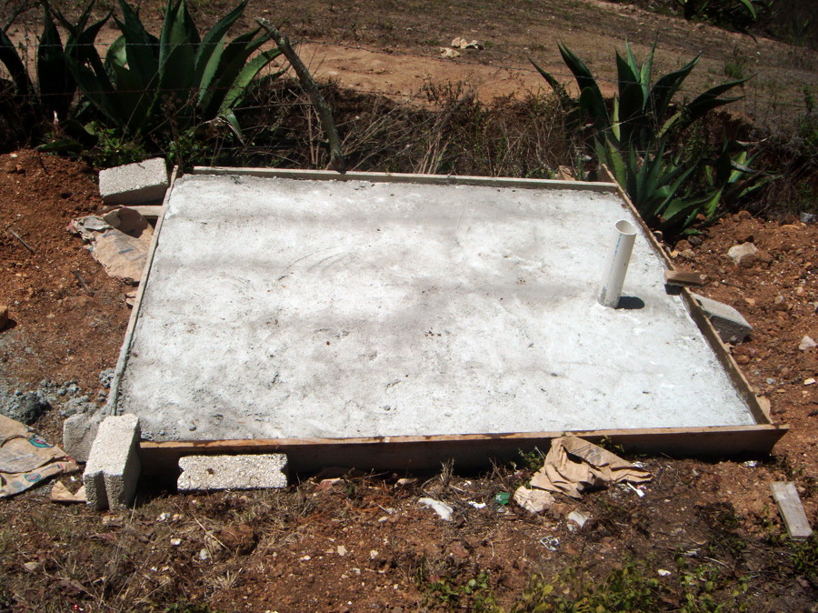 Foto construccion de fosa septica de desarrolladora ayr s - Construir fosa septica ...