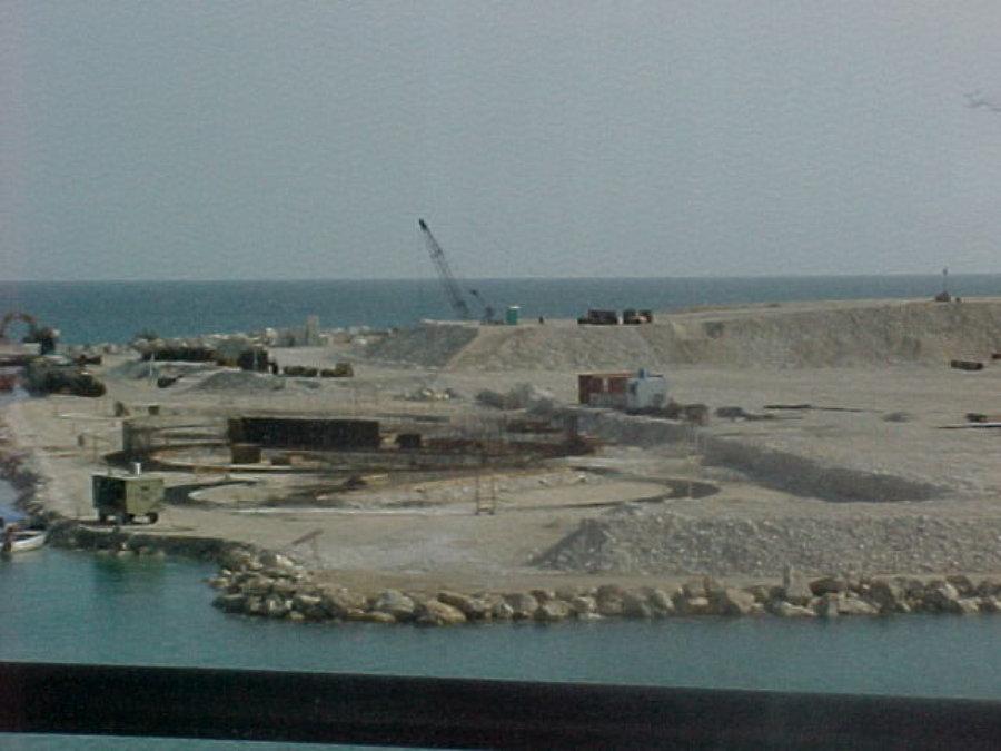 construcción de puerto