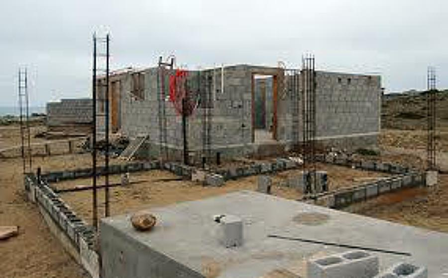 Foto desplante de construcci n de casa habitacion de for Construccion de casas paso a paso