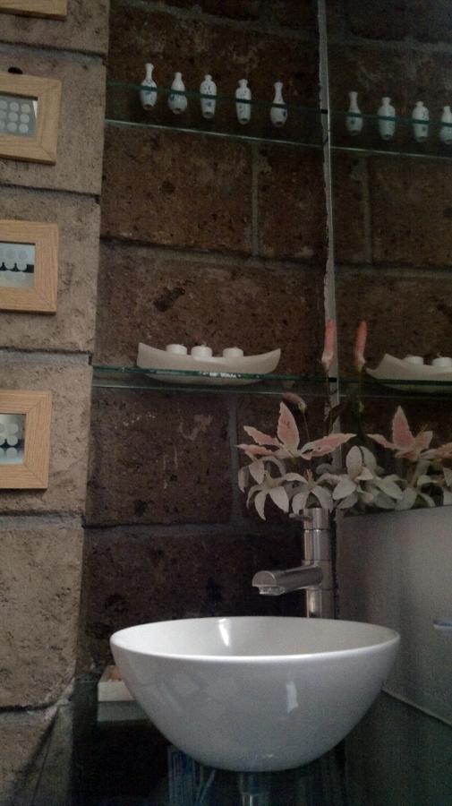 Diseño de área de lavabo en baño