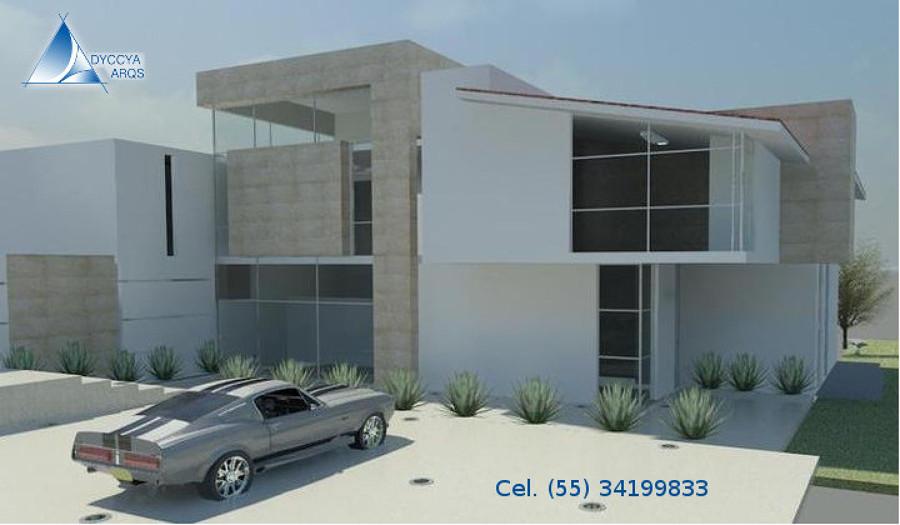 Foto dise o de casa moderna de dos pisos de dyccya for Disenos de oficinas modernas gratis