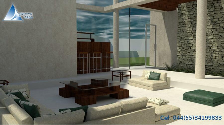 Foto dise o de interiores casa minimalista metepec de - Columnas decoracion interiores ...
