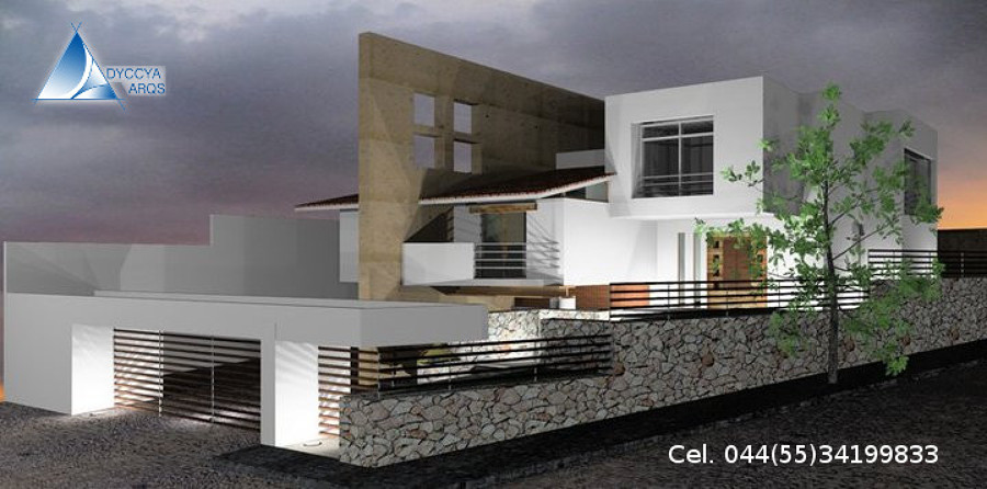 Foto dise o para casa minimalista moderna en quer taro de for Diseno de fachadas minimalistas