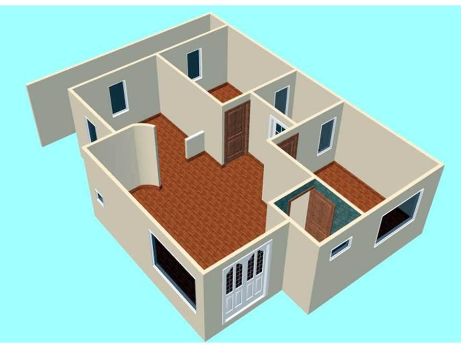 Foto distribuci n de casa habitaci n de grupo dmc 16914 for Distribucion de una casa de una planta